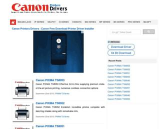 canonprintersdrivers.com screenshot