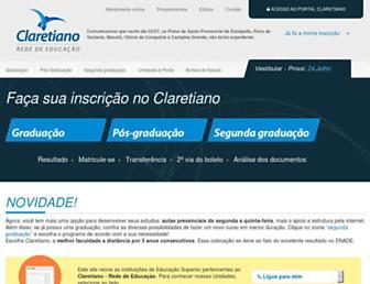 Thumbshot of Claretiano.edu.br