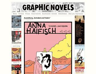 Main page screenshot of graphic-novel.info