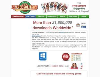 123freesolitaire.com screenshot