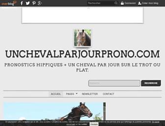 unchevalparjourprono.com screenshot