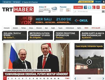trthaber.com screenshot