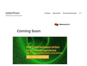 Main page screenshot of cyberpress.de