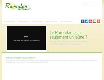 ramadan-calendrier.com screenshot