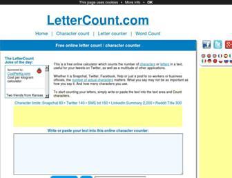 Thumbshot of Lettercount.com