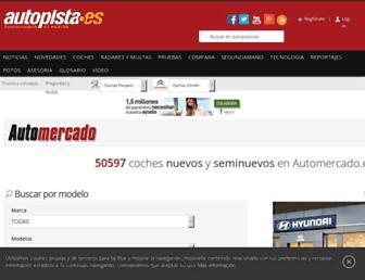 Main page screenshot of automercado.es