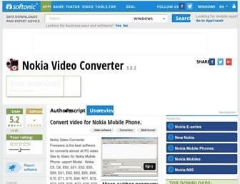 nokia-video-converter.en.softonic.com screenshot