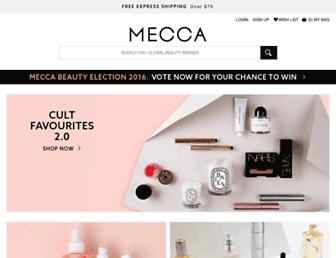 mecca.com.au screenshot