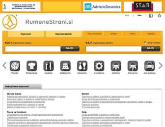 rumenestrani.si screenshot
