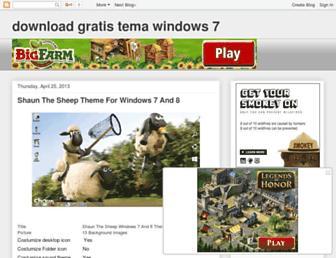 downloadgratistemawindows7.blogspot.com screenshot