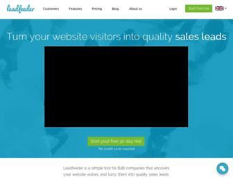 leadfeeder.com screenshot