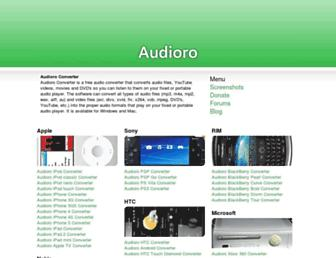 audioro.com screenshot