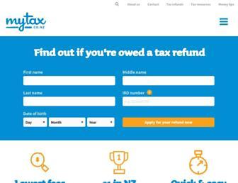 mytax.co.nz screenshot