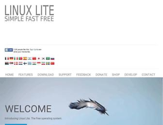 linuxliteos.com screenshot