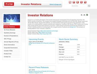 investor.zynga.com screenshot