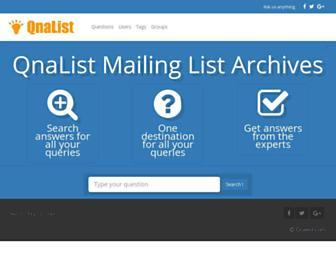 qnalist.com screenshot