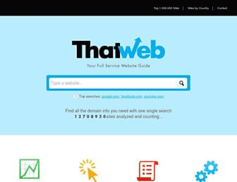 thatweb.com screenshot