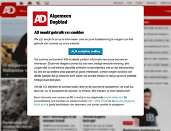 Main page screenshot of ad.nl