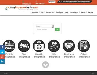 easyinsuranceindia.com screenshot