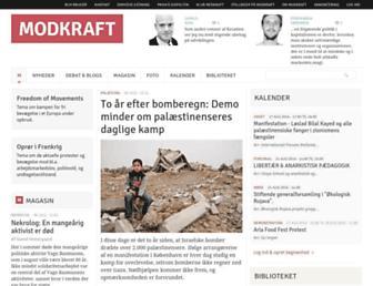 Main page screenshot of modkraft.dk