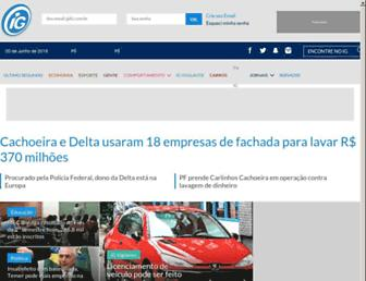 Main page screenshot of blig.ig.com.br