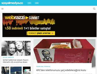 Main page screenshot of sosyalmedya.co