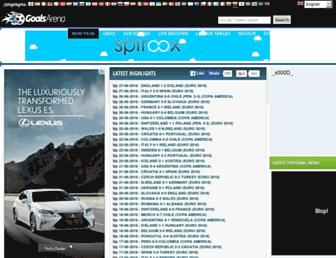 Screenshot for goalsarena.org