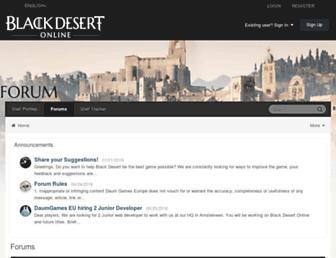 forum.blackdesertonline.com screenshot