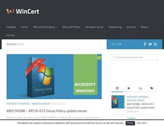 wincert.net screenshot