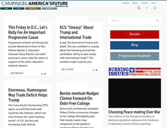 Main page screenshot of ourfuture.org