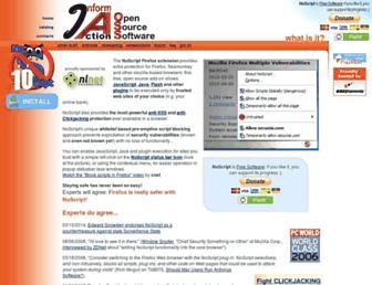 Main page screenshot of noscript.net