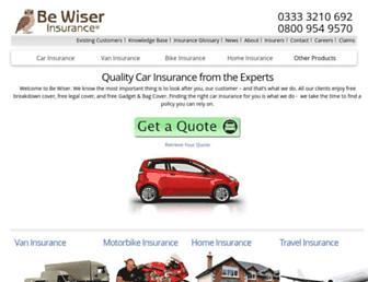 bewiser.co.uk screenshot