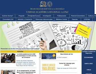 lpz.ucb.edu.bo screenshot