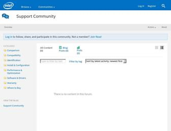 communities.intel.com screenshot