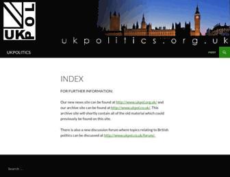 Thumbshot of Ukpolitics.org.uk