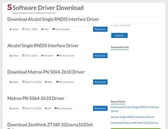 softwaredriverdownload.com screenshot