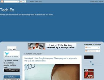 Main page screenshot of tech-ex.net