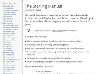 manual.starling-framework.org screenshot