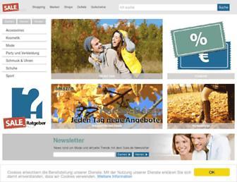 Main page screenshot of sale.de