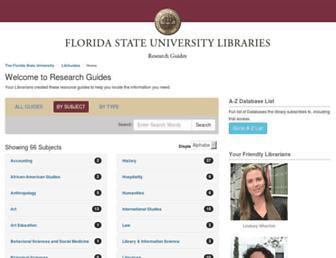 guides.lib.fsu.edu screenshot