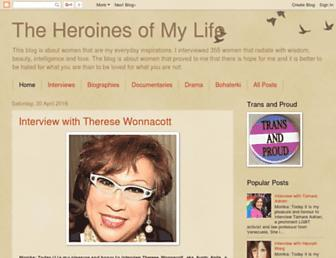 theheroines.blogspot.com screenshot