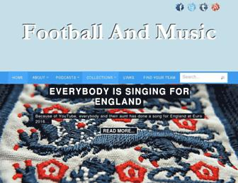 footballandmusic.co.uk screenshot