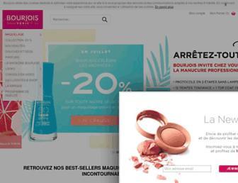 Main page screenshot of bourjois.fr