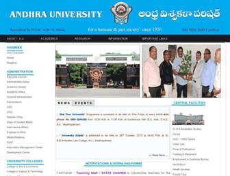 andhrauniversity.edu.in screenshot
