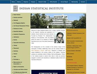 isical.ac.in screenshot