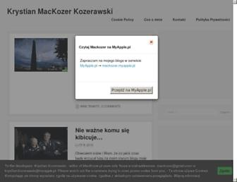 Main page screenshot of mackozer.pl