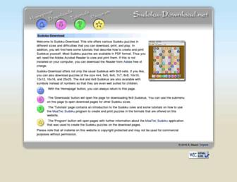 sudoku-download.net screenshot