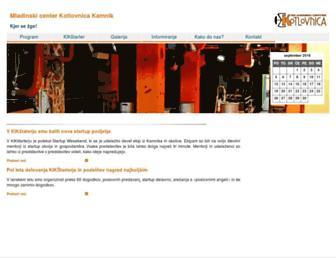 Main page screenshot of kotlovnica.si