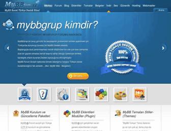 Main page screenshot of mybb.biz
