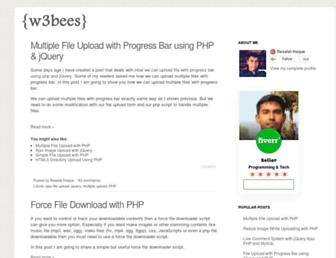 w3bees.com screenshot